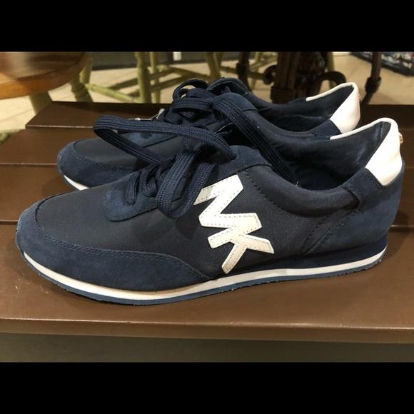 michael kors blue sneakers